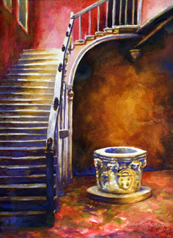 Venice Stair watercolor painting Watercolor Painting by Jennifer Branch.