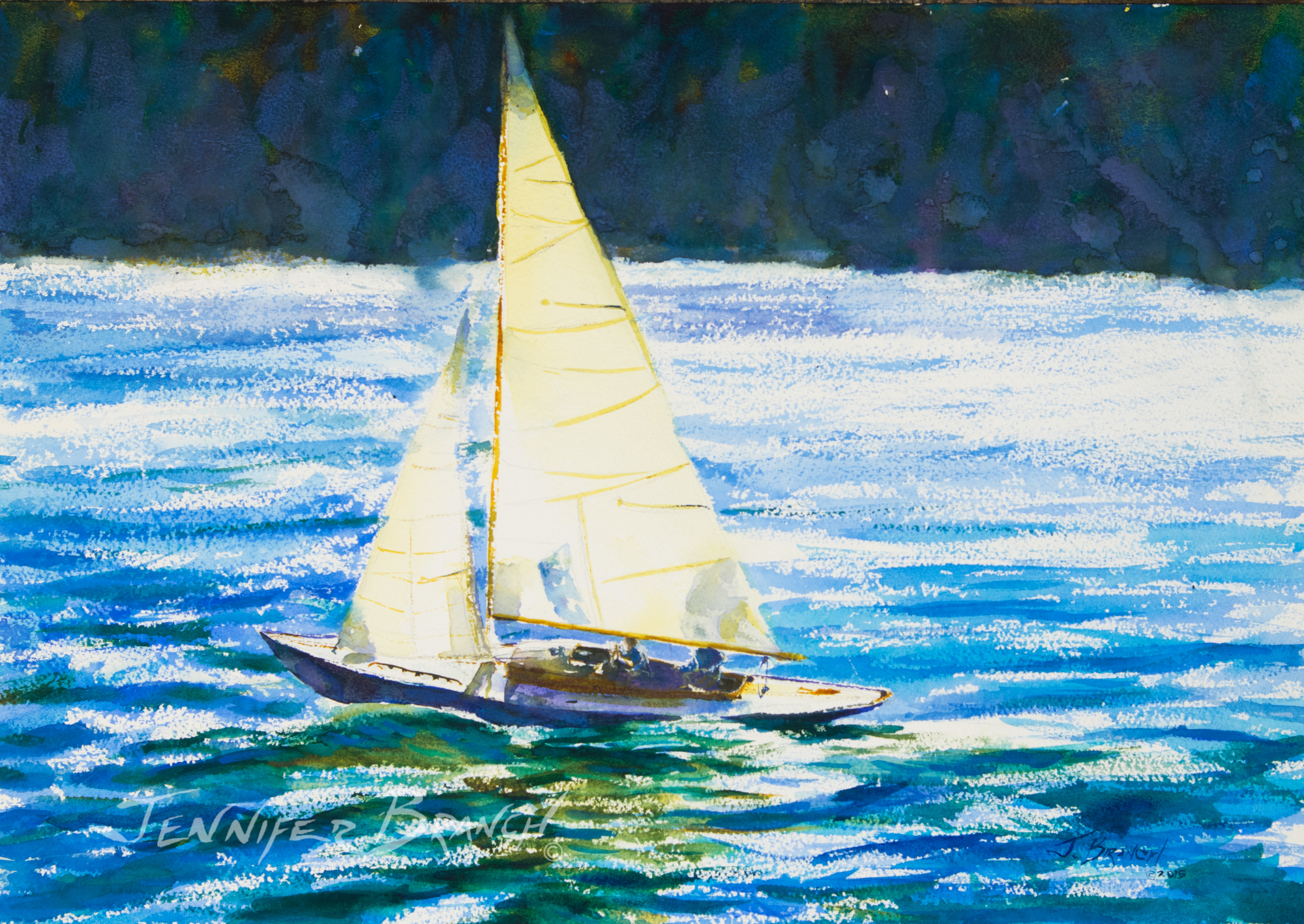 sailboat Painting by Jennifer Branch
