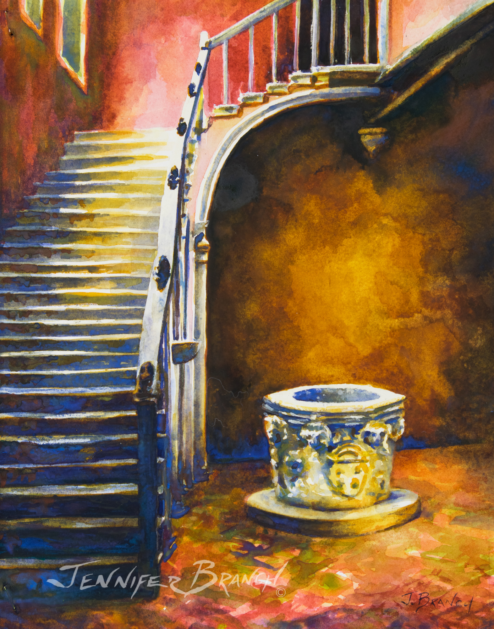 Venice-Stair-Painting by Jennifer Branch