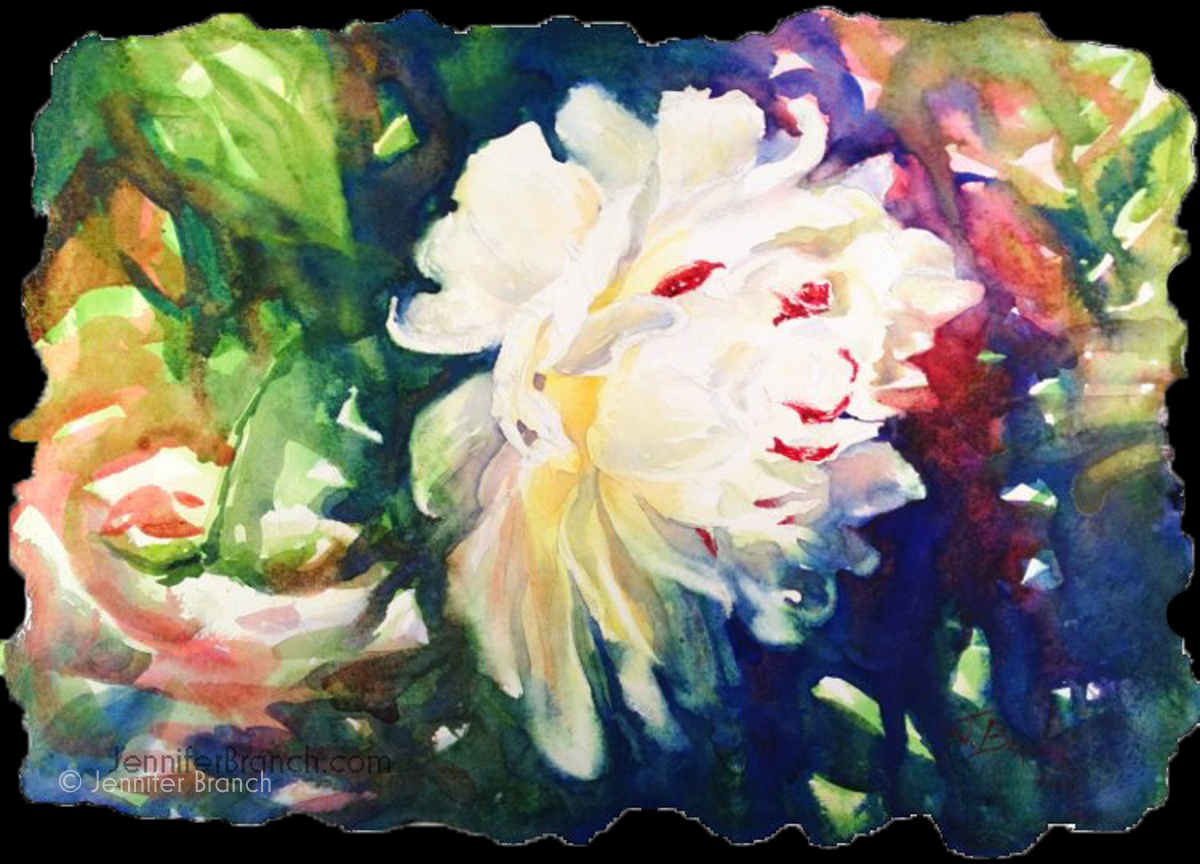 watercolor flower by Jennifer Branch